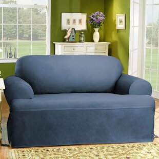 Cotton Duck T-Cushion Loveseat Slipcover