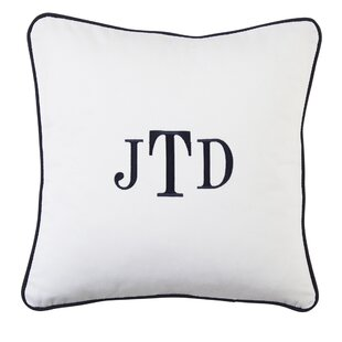 Classic Monogrammed Pillow Cover