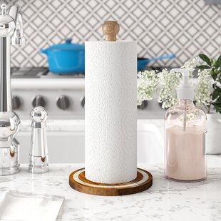 Mango Wood Bone Free-Standing Paper Towel Holder