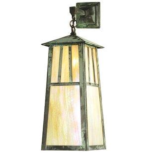Great Price 1-Light Outdoor Wall Lantern By Meyda Tiffany