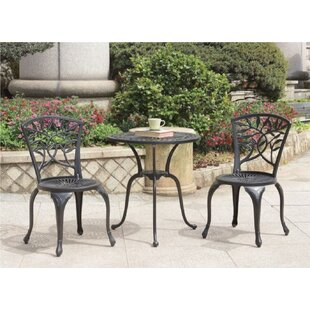 Brashear Round 3 Piece Bistro Set by Fleu..