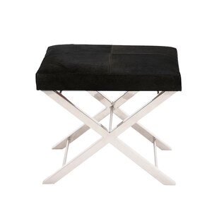 Westbrook Leather Ottoman by Ebern Designs