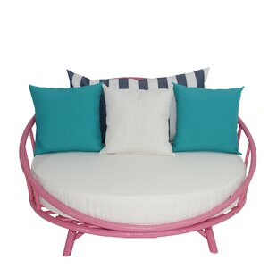 Egremont Bamboo Patio Daybed With Cushions By Everly Quinn