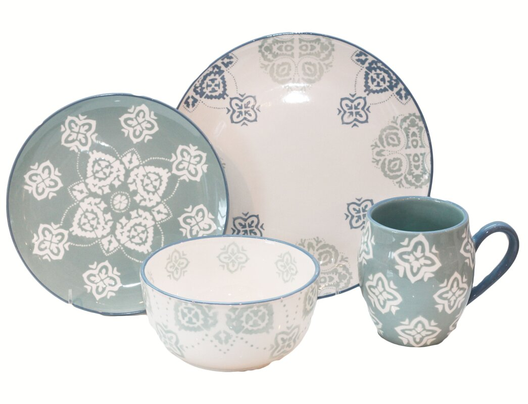 Painterly 16 Piece Dinnerware Set Service for 4  sc 1 st  Wayfair & Baum Painterly 16 Piece Dinnerware Set Service for 4 \u0026 Reviews ...