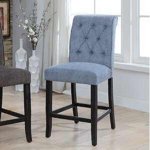 Tomasello Transitional Counter Height Upholstered Dining Chair (Set of 2) by Darby Home Co
