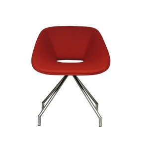Red Swivel Camira Wool Side Chair by B&T Design