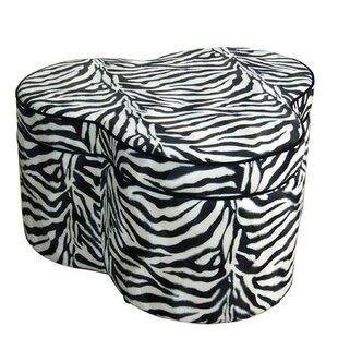 Zebra Storage Ottoman By ORE Furniture