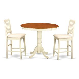 Wooden Importers Jackson 3 Piece Counter Height Pub Table Set