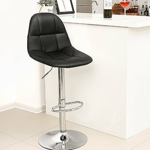 Eglinton Adjustable Height Swivel Bar Stools (Set of 2) by Orren Ellis
