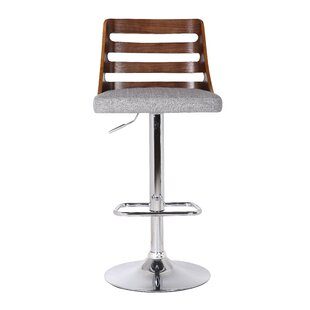 Wade Logan Lavallette Adjustable Height Swivel Bar Stool