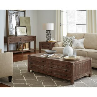 Meltham Wooden 2 Piece Coffee Table Set