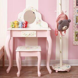 Bouquet Kids Vanity Set with Mirror