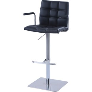 Toia Adjustable Height Swivel Bar Stool Orren Ellis