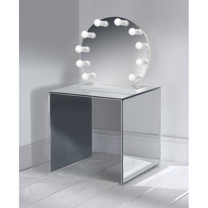 Symple Stuff Laleia Round Led Lighted Vanity Mirror Wayfairca