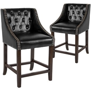 Enriquez 24 Bar Stool (Set of 2) Alcott Hill