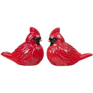 Cardinal 3D Bird Salt and Pepper Shaker (Set of 2)