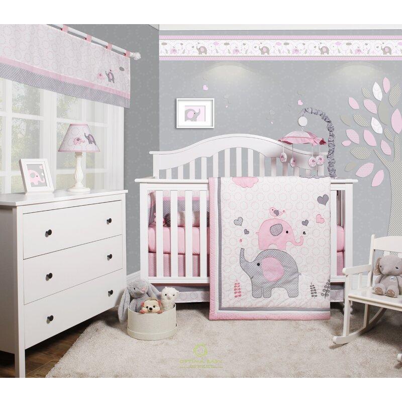 Beautiful Baby Rooms: Harriet Bee Cheatwood Elephant Baby Girl Nursery 6 Piece