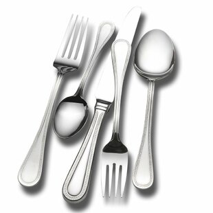Continental Bead 65 Piece 18/10 Stainless Steel Flatware Set, Service for 12
