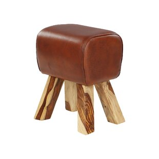 Carlina Leather Stool By Alpen Home
