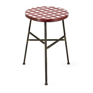 Lima Wood and Metal Accent Stool by Fleur De Lis Living
