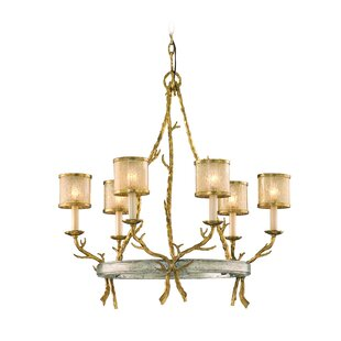 Parc Royale 6-Light Shaded Chandelier by Corbett Lighting