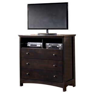 Read Reviews Cruise 3 Drawer Media Chest by Charlton Home