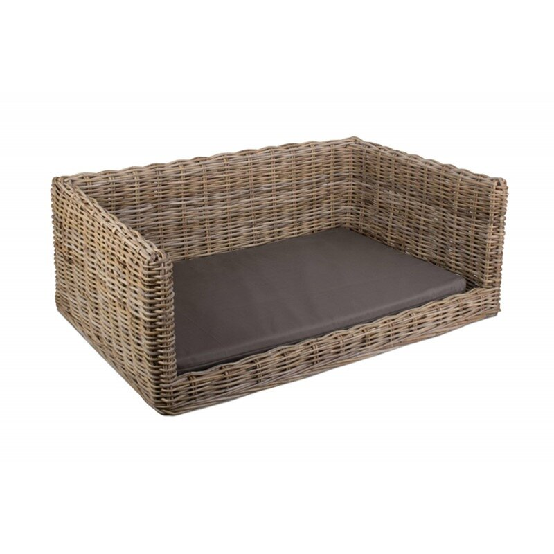 Sybil Luxury Rattan Dog Sofa by Brambly Cottage