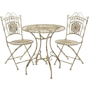 Oriental Furniture 3 Piece Bistro Set