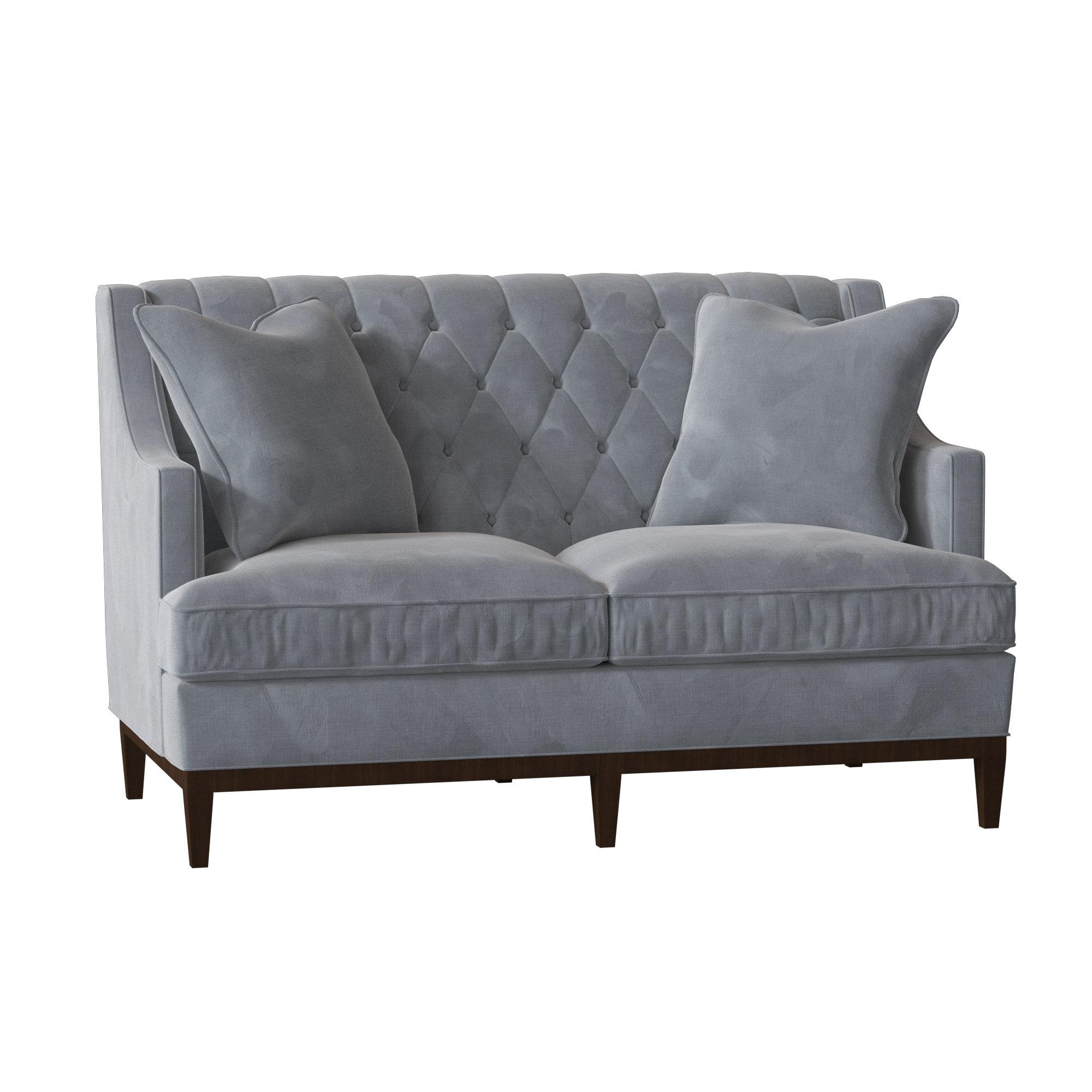 Duralee Furniture Carmel 60 Recessed Arm Loveseat
