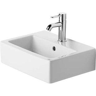 Vero Ceramic Rectangular Vessel Bathroom Sink with Overflow Duravit