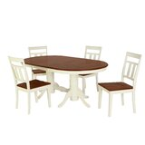Bellino 5 Piece Drop Leaf Solid Wood Dining Set by August Grove®