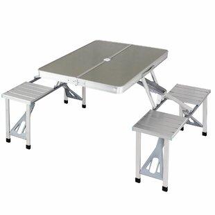 Freeport Park Scruggs Portable Folding Picnic Table Set