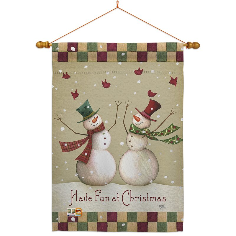 Breeze Decor Have Fun At Christmas 2 Sided Polyester 40 X 28 In Flag Set Wayfair