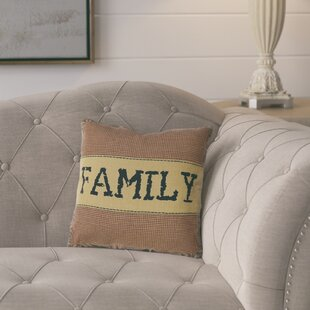 Erekson Family 100% Cotton Throw Pillow
