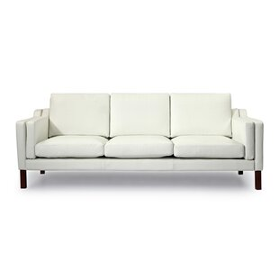 Cheap Rolando Mid Century Modern Leather Sofa Corrigan Studio