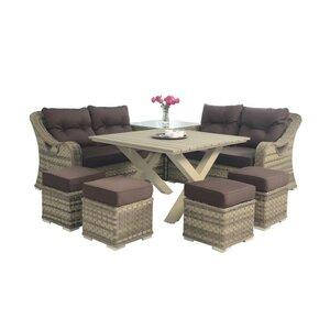 8-Sitzer Gartengarnitur Vegas von Castleton Home