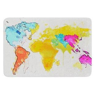 Time zones world map wayfair world map by oriana cordero bath mat gumiabroncs Images