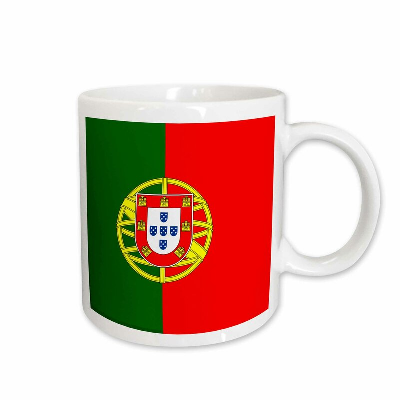 East Urban Home Flag Of Portugal Portuguese And With Coat Of Arms Shield Supporter Fan Country World Coffee Mug Wayfair