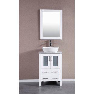 Find Lomas 24 Single Bathroom Vanity Set with Mirror ByBreakwater Bay