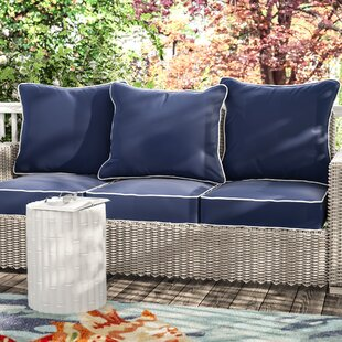 Beachcrest Home Ginsberg Indoor/Outdoor Sunbrella Sofa Cushion (Set of 3)