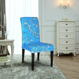 Printed Spandex Stretch Box Cushion Dining Chair Slipcover (Set Of 6) By House Of Hampton