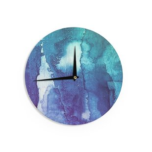 Malia Shields 'Blues Abstract Series 1' 12 Wall Clock by East Urban Home