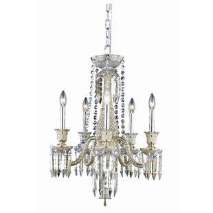 Rosdorf Park Leonardo 5-Light Metal Candle Style Chandelier