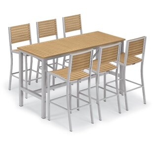 Latitude Run Maclin 7 Piece Bar Height Dining Set