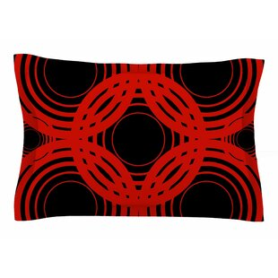 Kathryn Pledger 'Geo Red' Geometric Sham