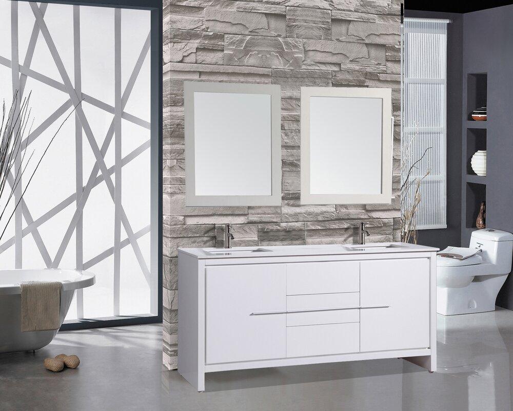 """Modern Bathroom Vanities North Hollywood mtdvanities cypress 72"""" double modern bathroom vanity set with"""