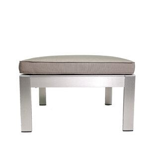 Hillwood Outdoor Ottoman with Cushion by Rosecliff Heights