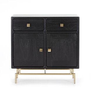 Bromwich Wood And Metal Sideboard By World Menagerie