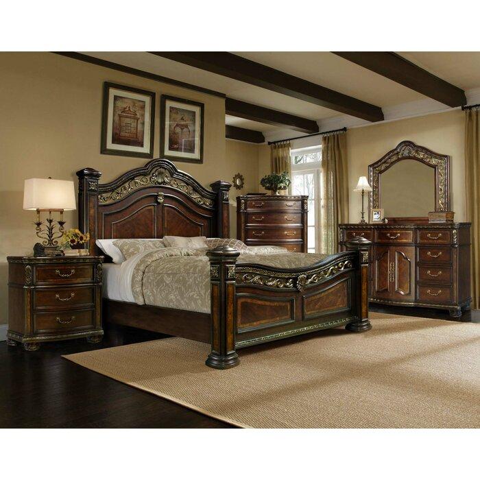 Storrs Standard Solid Wood 4 Piece Bedroom Set
