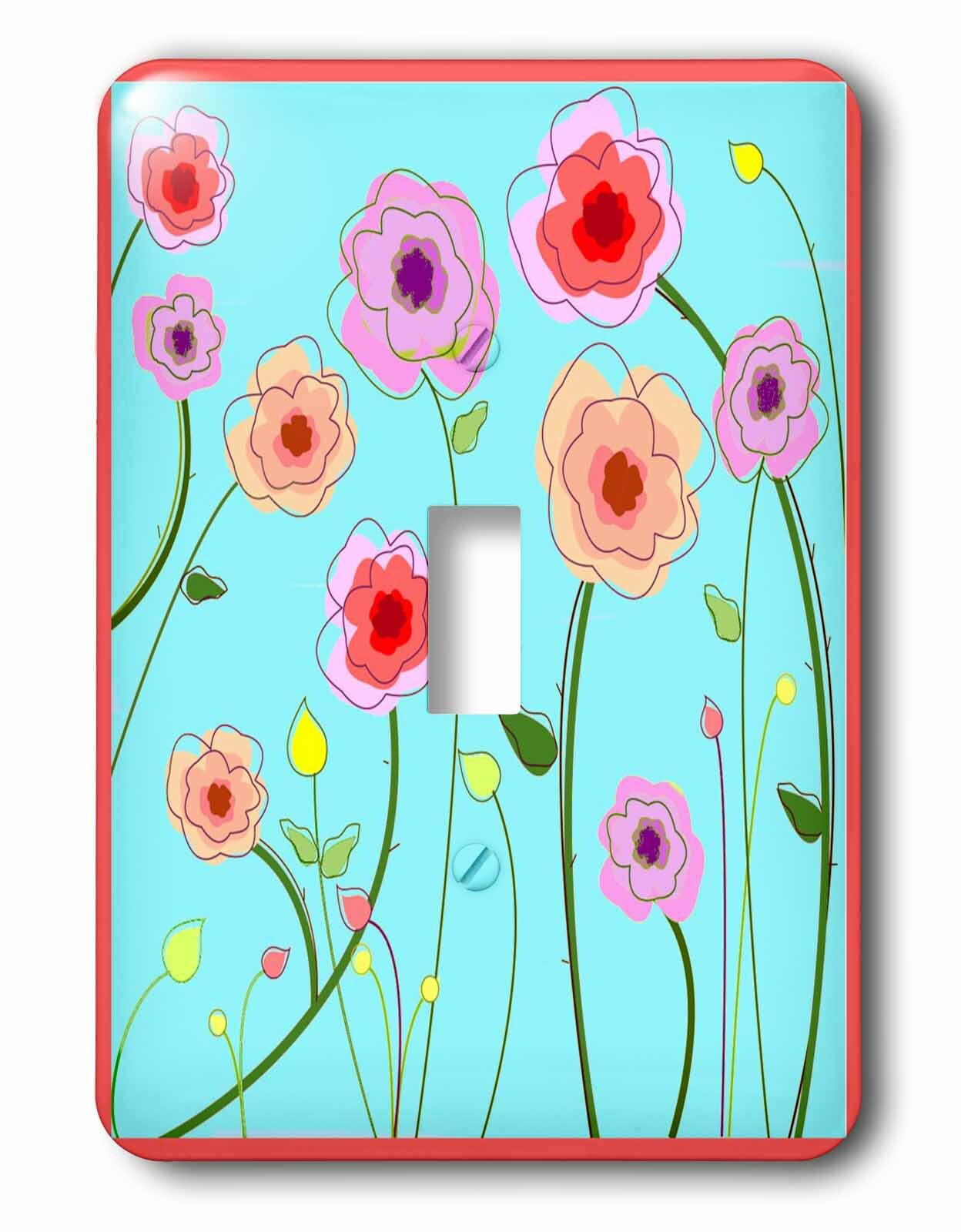 3drose Switch Spring Flowers 1 Gang Toggle Light Switch Wall Plate Wayfair